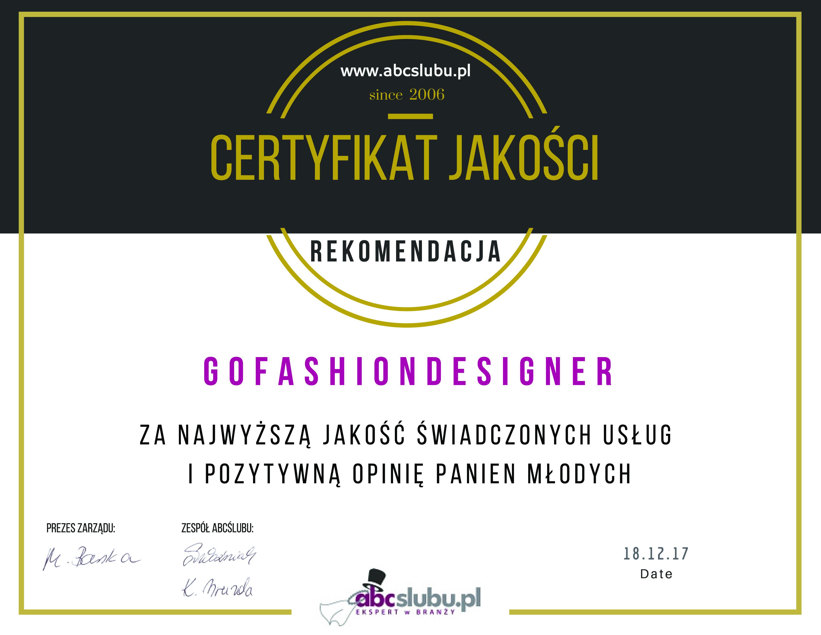 ceryfikat-jakosci-go-fashion-designer